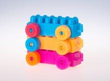 игрушка Автомобиль блока игрушки Автомобиль блока игрушки на предпосылке Стоковое фото RF