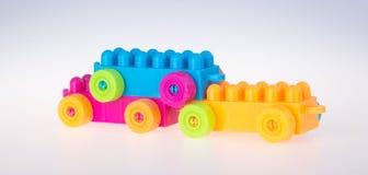 игрушка Автомобиль блока игрушки Автомобиль блока игрушки на предпосылке Стоковые Фотографии RF