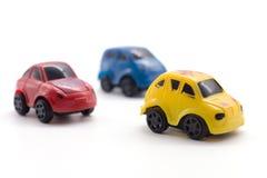 Игрушка автомобиля на белой предпосылке Стоковые Изображения