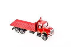 Игрушка автомобиля крупного плана на белой предпосылке Стоковая Фотография