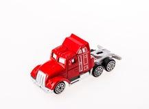 Игрушка автомобиля крупного плана на белой предпосылке Стоковая Фотография RF