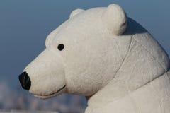 Игрушка белого медведя Стоковое фото RF