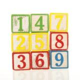 игрушка блоков деревянная Стоковые Изображения