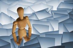 игрушка бумаги лабиринта манекена деревянная Стоковое фото RF