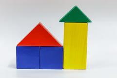 игрушка блоков деревянная Стоковые Фото