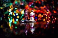 Игрушка винтажного рождества стеклянная начала двадцатого ce Стоковое Изображение RF