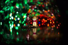 Игрушка винтажного рождества стеклянная начала двадцатого ce Стоковое фото RF