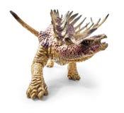 Игрушка динозавра Kentrosaurus изолированная на белой предпосылке Стоковые Изображения