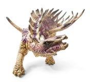 Игрушка динозавра Kentrosaurus изолированная на белой предпосылке Стоковые Изображения RF