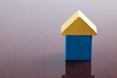 игрушка дома блока деревянная Стоковые Изображения RF