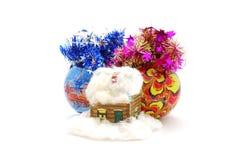 игрушка дома рождества шариков Стоковые Фотографии RF