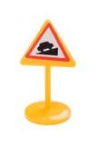игрушка дорожного знака макроса Стоковое Изображение RF