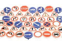 игрушка дорожного знака предпосылки Стоковые Фото
