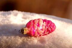 Игрушка ели в форме розового конуса Стоковая Фотография RF