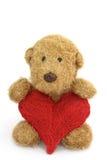 игрушка игрушечного сердца медведя Стоковое Изображение RF