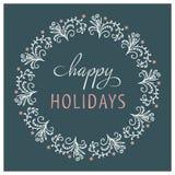 игрушка игрушечного снежинок конструкции рождества карточки счастливые праздники Нарисованная рукой иллюстрация вектора Стоковая Фотография