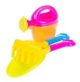игрушка Игрушки младенца пляжа на предпосылке Стоковые Изображения