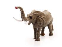 игрушка изолированная слоном Стоковая Фотография