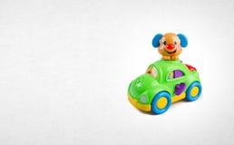 Игрушка или игрушка автомобиля на предпосылке Стоковые Изображения
