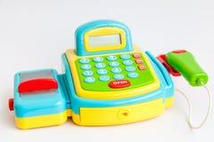игрушка кассового аппарата стоковое изображение