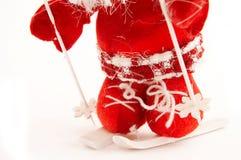 игрушка катания на лыжах Стоковая Фотография