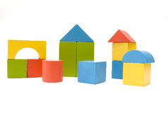 игрушка кирпича Стоковое Изображение RF