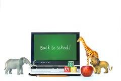 игрушка компьтер-книжки стола яблока животных Стоковые Изображения RF