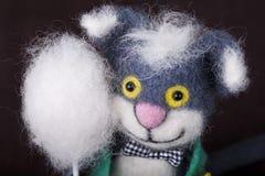 Игрушка, кот, смешной, потеха, сувенир Стоковое фото RF
