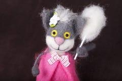 Игрушка, кот, смешной, потеха, сувенир Стоковые Фотографии RF