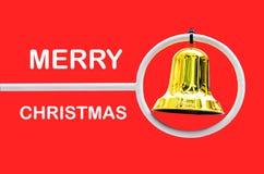Игрушка колокола рождества с космосом для вашего текста  Стоковое Изображение