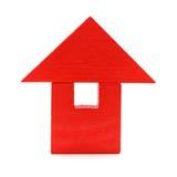 игрушка красного цвета дома Стоковое фото RF