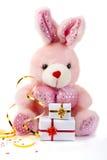 игрушка кролика подарков розовая Стоковое Изображение