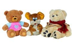игрушка маленькой мыши медведей мягкая Стоковые Фото