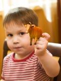 игрушка малыша коровы Стоковые Фото
