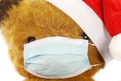 игрушка маски гриппа медведя мягкая Стоковое Изображение RF