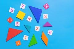 Игрушка математики с номером и математикой для образования ребенк Стоковое Фото