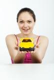 игрушка машины девушки стоковая фотография