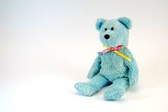 игрушка медведя голубая нерукотворная Стоковое Изображение RF