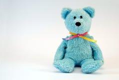 игрушка медведя голубая нерукотворная Стоковое фото RF