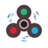 Игрушка непоседы для сброса стресса и улучшения объема внимания также вектор иллюстрации притяжки corel Стоковое Фото