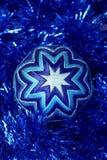Игрушка Нового Года, синий шарик, игрушка рождества Стоковое Фото