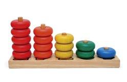 игрушка номера деревянная Стоковое Изображение