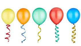 Игрушка дня рождения воздушного шара праздничная Стоковая Фотография