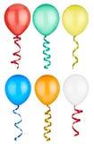 Игрушка дня рождения воздушного шара праздничная Стоковые Фото