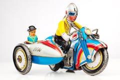игрушка олова гонщика мотовелосипеда Стоковые Фото