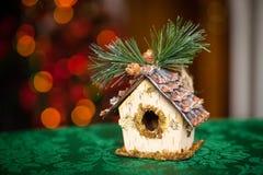 Игрушка дома сказки белизна изоляции декора рождества Стоковые Фотографии RF