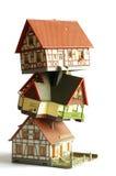 Игрушка домов миниатюрная модельная Стоковая Фотография