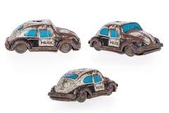 игрушка олова старых полиций автомобиля ржавая Стоковое Изображение RF