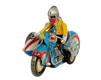 Игрушка олова clockwork Motercycle стоковая фотография rf