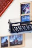 игрушка пластмассы дома части балкона Стоковое фото RF